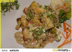 Zapečené gnocchi s brokolicí a sýrem recept - TopRecepty. Gnocchi, Chicken, Food, Diet, Essen, Meals, Yemek, Eten, Cubs