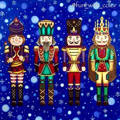 Take a peek at this great artwork on Johanna Basford's Colouring Gallery! Nutcracker Christmas, Noel Christmas, Christmas Books, Xmas, Johanna Basford Books, Johanna Basford Coloring Book, Christmas Coloring Pages, Coloring Book Pages, Coloring Sheets