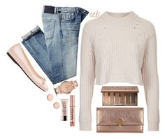 """""""Rose Gold"""" by coombsie24 ❤ liked on Polyvore featuring Urban Decay, Marc by Marc Jacobs, Alexander McQueen, Topshop, Citizens of Humanity and Prada"""