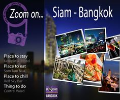 « ZOOM ON... », your weekly dose of inspiration by Bangkok in MyPocket. Inspired by the #App #Bangkok in myPocket I selected for you a few #places and #activities to plan a perfect day in the neighborhood of #Siam… Get #inspired, miss nothing with Bangkok in MyPocket ! More details on our facebook page : http://lc.cx/V9A