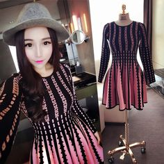 Find More Information about 2015 winter o neck knitted basic high waist big skirt slim waist one piece dress,High Quality skirt floral,China dress skirt Suppliers, Cheap dresse from E-Best Fashion Mall on Aliexpress.com