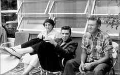 Elvis and his parents when they lived on Audubon Drive.