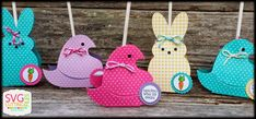 SVG Cutting Files: Spring Chick/Bunny Lollipop Covers!