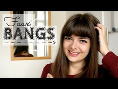 How to create faux bangs with only two bobbypins- Video by Loepsie Side Bangs Hairstyles, Oval Face Hairstyles, Hairstyles With Bangs, Pretty Hairstyles, Hairstyles Men, Medium Thin Hair, Short Thin Hair, Hair Styles 2016, Short Hair Styles