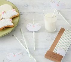 A simple craft with a sweet design, these straws allow little ones to participate in springtime fun.