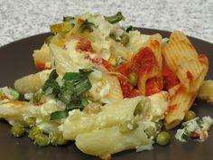 Penne cu mazăre la cuptor Penne, Potato Salad, Pizza, Potatoes, Cooking, Ethnic Recipes, Mary, Food, Baking Center
