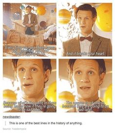 The Eleventh Doctor. The Doctor, The Widow and The Wardrobe. My favorite quote from this epidode <3 A Doctor a Day.