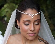 Hochzeits Rebe  Hochzeitssuite Stirn Band  Swarovski Crystal