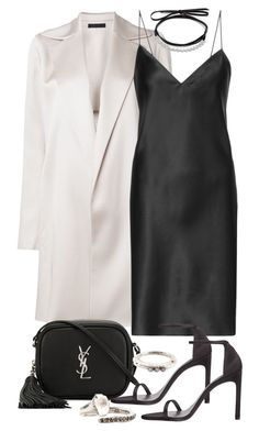 """""""Untitled #11167"""" by minimalmanhattan on Polyvore featuring The Row, Yves Saint Laurent, Rosa Maria and Fallon"""