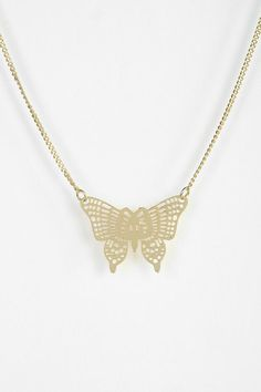 Filigree Butterfly Necklace #urbanoutfitters
