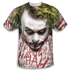 Batman Begins Movie The Joker Laugh Collage Sublimation Front Only T-shirt Top Official Licensed Batman DC Comics Sublimated Front Print Joker Dc Comics, Dc Comics Superheroes, Batman Begins Movie, Batman Costumes, Batman Gifts, Joker Face, Batman The Dark Knight, Batman Dark, Batman Shirt
