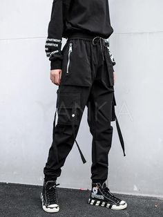 Casual Zipper Drawstring Overall Pants - Casual Zipper Drawstring Overall Pants – yankia Source by helly_dazai - Hipster Outfits, Teen Fashion Outfits, Edgy Outfits, Mode Outfits, Korean Outfits, Grunge Outfits, Girl Outfits, Cool Outfits For Boys, Fashion Dresses