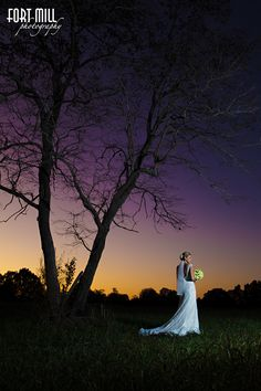 Dramatic Bridal Portrait at Sunset.
