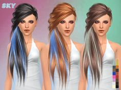 Hair 253 by Skysims at TSR via Sims 4 Updates