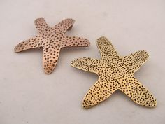Starfish Artisan Pendant - large, unique, hand drawn, hand cut, hand fabricated starfish pendant in your choice of brass, copper or sterling silver strating at $45. by JoDeneMoneuseJewelry