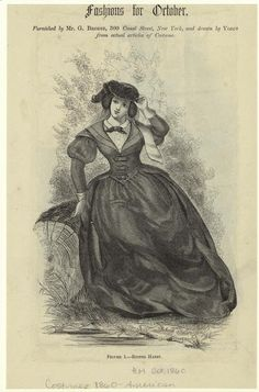 Fashion plates including riding habit 1860s -fab!