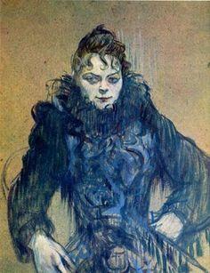 Henri de Toulouse-Lautrec. Woman with Black Feather Boa. 1892
