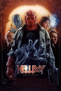 Hellboy (2004)  A demon, raised from infancy after being conjured by and rescued from the Nazis, grows to become a defender against the forces of darkness. Ron Perlman, Doug Jones, Selma Blair