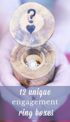 12 engagement ring boxes - unique, vintage, antique and handmade!