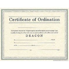 Free deacon ordination certificate download certificates for Deacon ordination certificate template