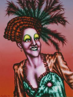 Ed Paschke (American, Minnie, 1974 Oil on linen 50 x 38 inches