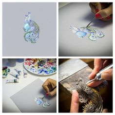 """The new jewelry collection by Van Cleef & Arpels is an exciting translation of one of the founding stories: """"'Arche de Noé"""" filled with whimsical animal creatures Van Cleef And Arpels Jewelry, Van Cleef Arpels, Jewellery Sketches, Jewelry Drawing, Bird Jewelry, Animal Jewelry, Peridot Jewelry, Jewelry Illustration, Illustrations"""