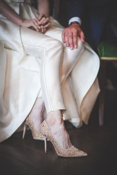 Beautiful bride in jumpsuit by Leanne Keaney Photography - Borris House Wedding… Bridal Shoes, Wedding Shoes, Wedding Day, Boho Gown, European Wedding, Bridal Jumpsuit, Party Dresses, Wedding Dresses, Women's Fashion