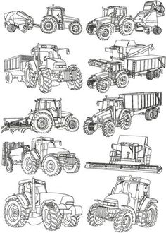 Tractor embroidery patterns