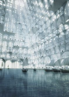 Water Dock of Master Plan for Souk Mirage Complex Sou Fujimoto Architects 2013