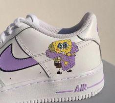 Cute Nike Shoes, Cute Sneakers, Nike Custom Shoes, Customised Shoes, Custom Painted Shoes, Vans Sneakers, Jordan Shoes Girls, Girls Shoes, Nike Shoes Air Force