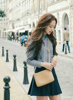 "ulzzang-selca-fashion: ""Park Seul """