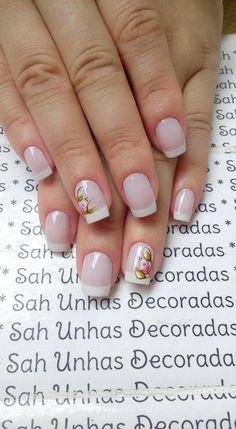 Para quem usa unhas curtas, vejam 28 modelos lindos de unhas decoradas!! 89 Fotos de Unhas Curtas Decoradas ACESSE AGORA AO MELHOR CURSO DE MANICURE, PREÇO ESPECIAL SOMENTE HOJE ((CLIQUE AQUI)) Snowflake Nails, Some Ideas, Manicure And Pedicure, Spring Nails, Fun Nails, Girly Things, Hair And Nails, Nail Designs, Hair Beauty