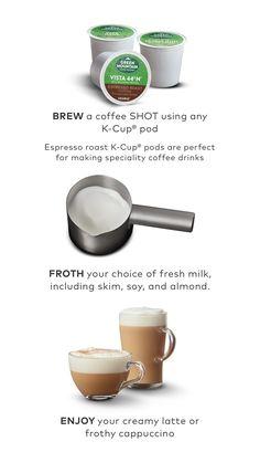 K-Café™ Special Edition Single Serve Coffee, Latte & Cappuccino Maker Cappuccino Maker, Cappuccino Machine, Latte Machine, Latte Art, Nespresso, Specialty Coffee Drinks, Fresh Ground Coffee, Coffee Shot, Pod Coffee Makers