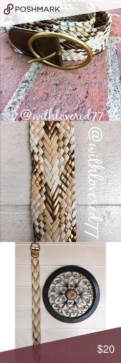 Braided Metallic Gold& Cream Boho Belt ✨ Braided Metallic Gold& Cream Boho Belt ✨ 37 and 1/2 Inches Long Accessories Belts