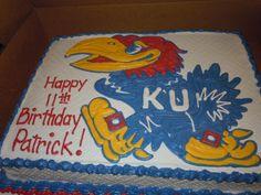 awesome Jayhawk cake made by Wendi P. ( my neighbor)