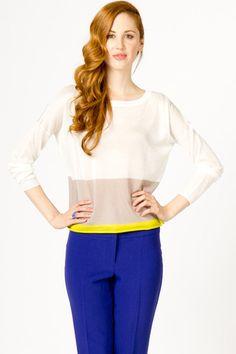 Basic Colorblock Sweater