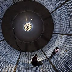 Welders inside a large liquid hydrogen tank for NASA's Space Launch System at the Michoud Assembly Facility in New Orleans are plugging holes left after the tank was assembled...is everyone getting pumped for Exploration Mission-1 from @NASAKennedy?  Credit: NASA  #NASA #SLS #SLSFiredUp @NASA_Marshall #SpaceLaunchSystem #technology #engineering #journeytomars
