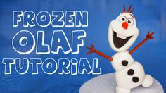how to make olaf figurine tutorial diy, www.thecakinggirl.ca