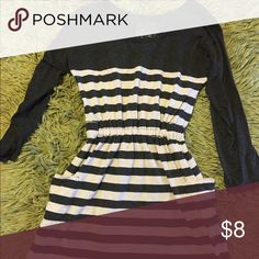 Classy stripped dress Goes up to knees, has cute pockets in the side,  and looks great with a simple belt Dresses Midi