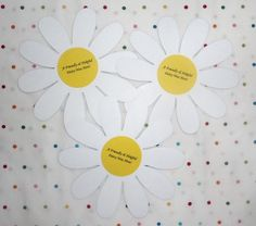 """I've found the Yellow Petal an easy Petal for the girls to earn, and a way to incorporate the GS """"do a good turn"""" into this level given there is no right side up for the Daisy Pin… Girl Scout Daisy Petals, Daisy Girl Scouts, Girl Scout Troop, Girl Scout Activities, Girl Scout Crafts, Yellow Daisies, Arts And Crafts, Gifts, Plant"""