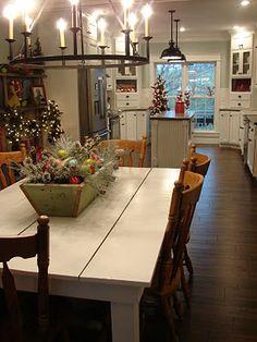 love the whole look - farm table