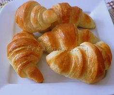 Cream Cheese Danish, Czech Recipes, Eclairs, No Bake Cake, Food And Drink, Peach, Sweets, Bread, Baking