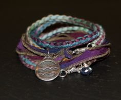 Aquarius in the stars multi warrior wrap with hand by alccreations, $125.00