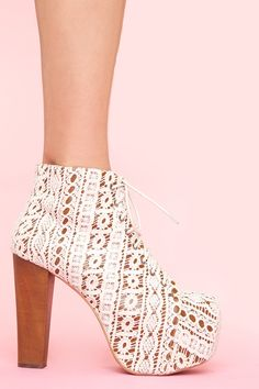 Lita Platform Boot - Ivory Crochet - ive probably already pinned these, but LOOOVE!