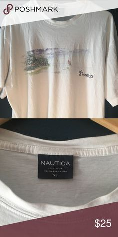 Nautica white T Nautica white T shirt  Clean no stains Little stretched around collar Nautica Shirts Tees - Short Sleeve