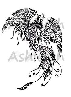 Polynesian Inspired Pheonix by tattoosbyashleigh