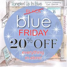 If you're about in Crieff today, why not take advantage of our BLUE FRIDAY OFFER! 20% OFF EVERYTHING IN-STORE! Perfect if you're looking for something a little extra special for someone this Christmas! TUIB Boutique x