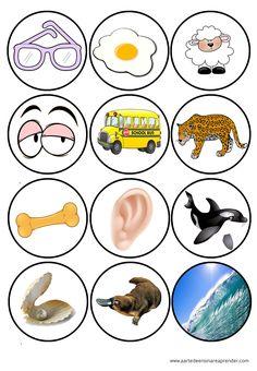 Jogo pedagógico para ensino das vogais maiúsculas e minúsculas, bastão e cursiva. Para exercitar a identificação dos sons ...