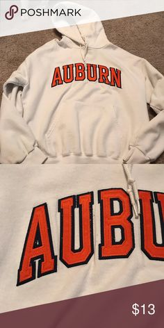 Auburn University hoodie White Auburn University hoodie. The letters are stitched on. Champion brand Champion Jackets & Coats