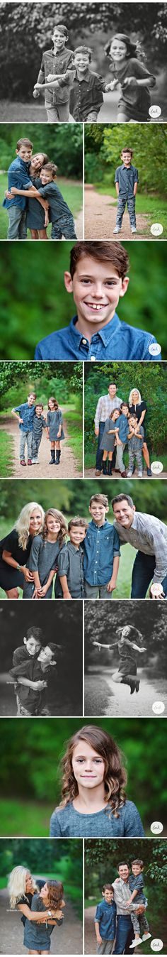 I adore this family (and their blues and blacks and whites)! And I love that the youngest was asking me to take MORE pictures with HIM in them! So cute! | Lark Austin Portraits